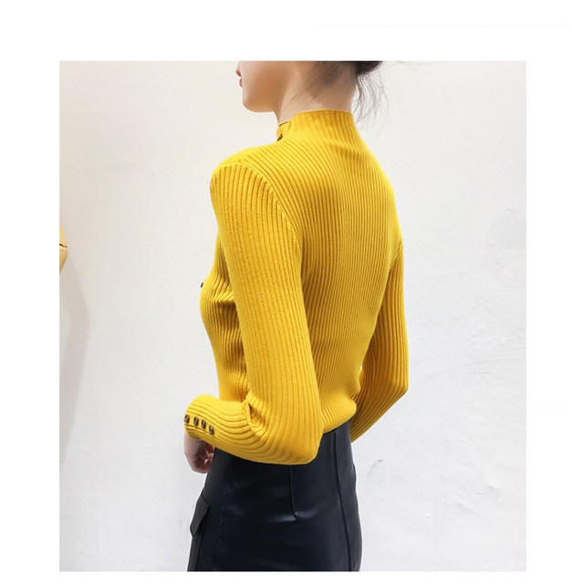 Women Sweater Turtleneck Sweaters Women Korean Fashion Woman Knitted Sweater Women Sweaters and Pullovers Winter Clothes Women 19