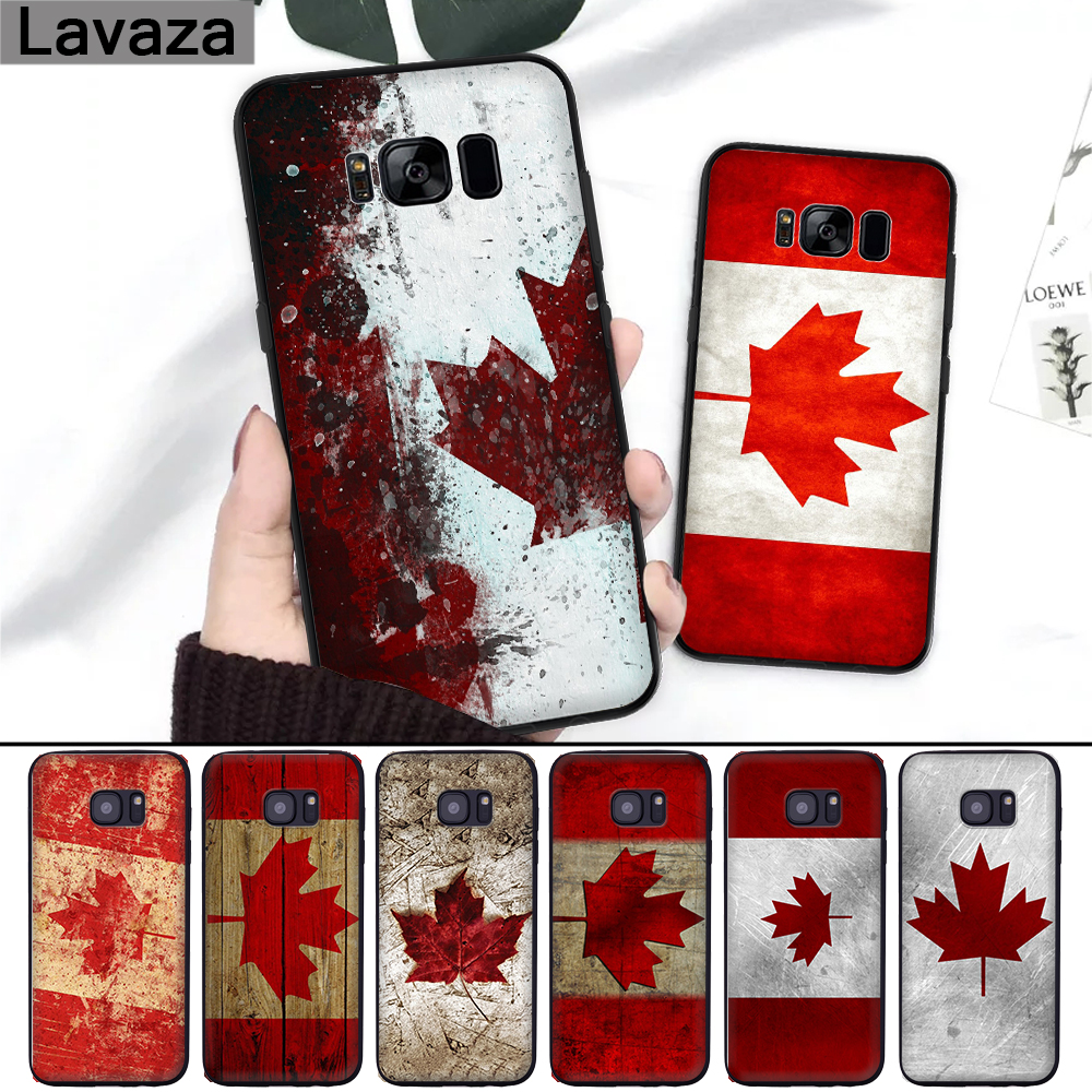 Lavaza Canada Flag Maple Leafs Novelty Fundas Silicone Case For Samsung S6 Edge S7 S8 Plus S9 S10 S10e Note 8 9 M10 M20 M30 Half-wrapped Case