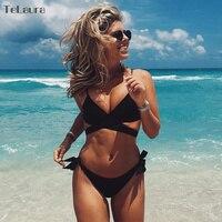 TeLaura 2017 Sexy Cross Brazilian Bikinis Women Swimwear Swimsuit Push Up Bikini Set Halter Top Beach