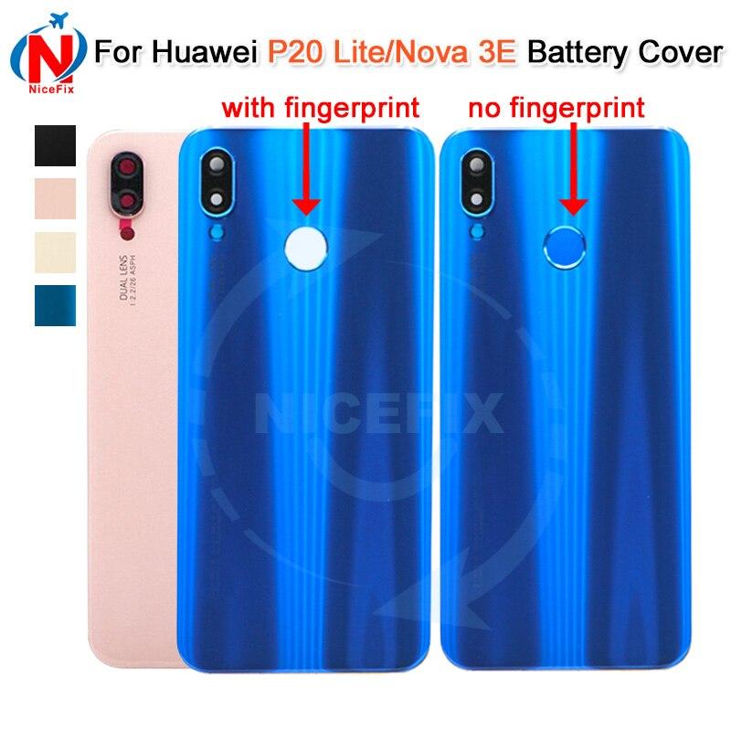 6908cbf738c Cheap Huawei P20 Lite batería trasera vivienda puerta de la cubierta caso  de Panel de cristal