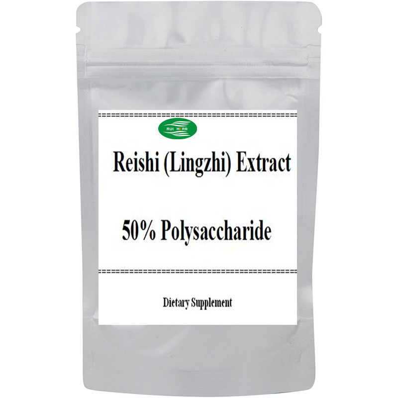 Reishi (Lingzhi) Extract 50% Polysaccharide Powder 50:1 Extract free shipping black cohosh extract 450mg x 90capsule free shipping