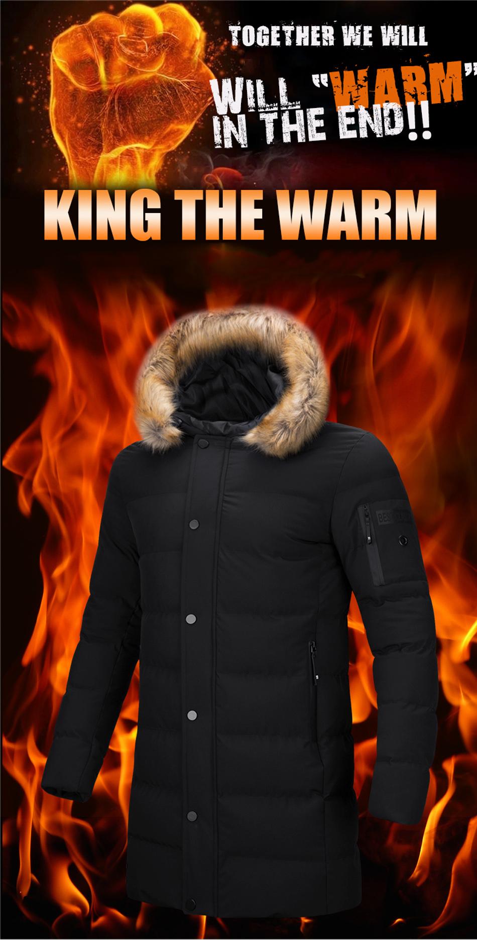diffelement новинка 2017 года стиль длинное пальто для мужчин брендовая одежда модные длинные куртки пальто и пуховики бренд-одежда мужские пальто мех воротник пальто