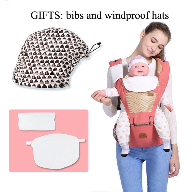 Breathable Ergonomic carrier backpack Portable infant baby carrier Kangaroo hipseat heaps with sucks pad baby sling carrier wrap