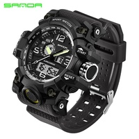 New Men Women Digital   Watch   Multi Function 30M/98ft Water Resistant Sport   Watch   LED Back Light Luminous   Dual     Display   Wristwatch