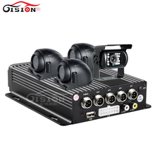 Free Shipping Dual SD 256G Vehicle Car Mobile Dvr+Front/Side/Rear View CCD Car Cameras For Bus/Taxi/Forklift/Van Car Mdvr Kits