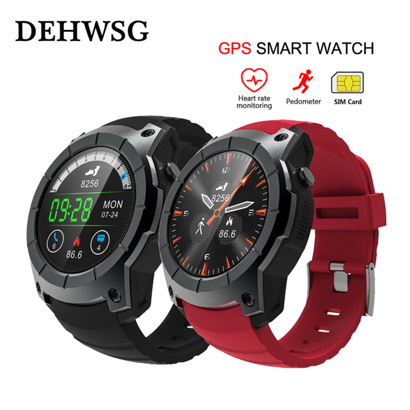 GPS Bluetooth 4.0 Smart watch 32GB TF SIM card SMS Reminder siri Multi-mode Sports Monitoring Wristwatch For xiaomi huawei ios gps outdoor smart watch v18 supports tf card multi mode sports monitor bluetooth wristwatch clock smart phone for ios android