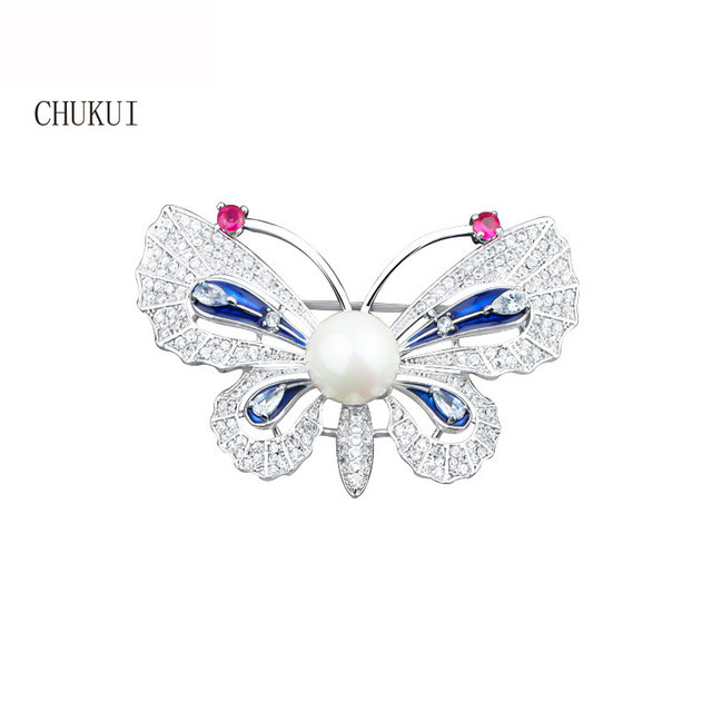039d67a0335 Luxury Metal Silver Rhinestone Zirconia CZ Crystal Butterfly Brooch Costume  Jewelry Brooches for Women Woman Wedding Pearl
