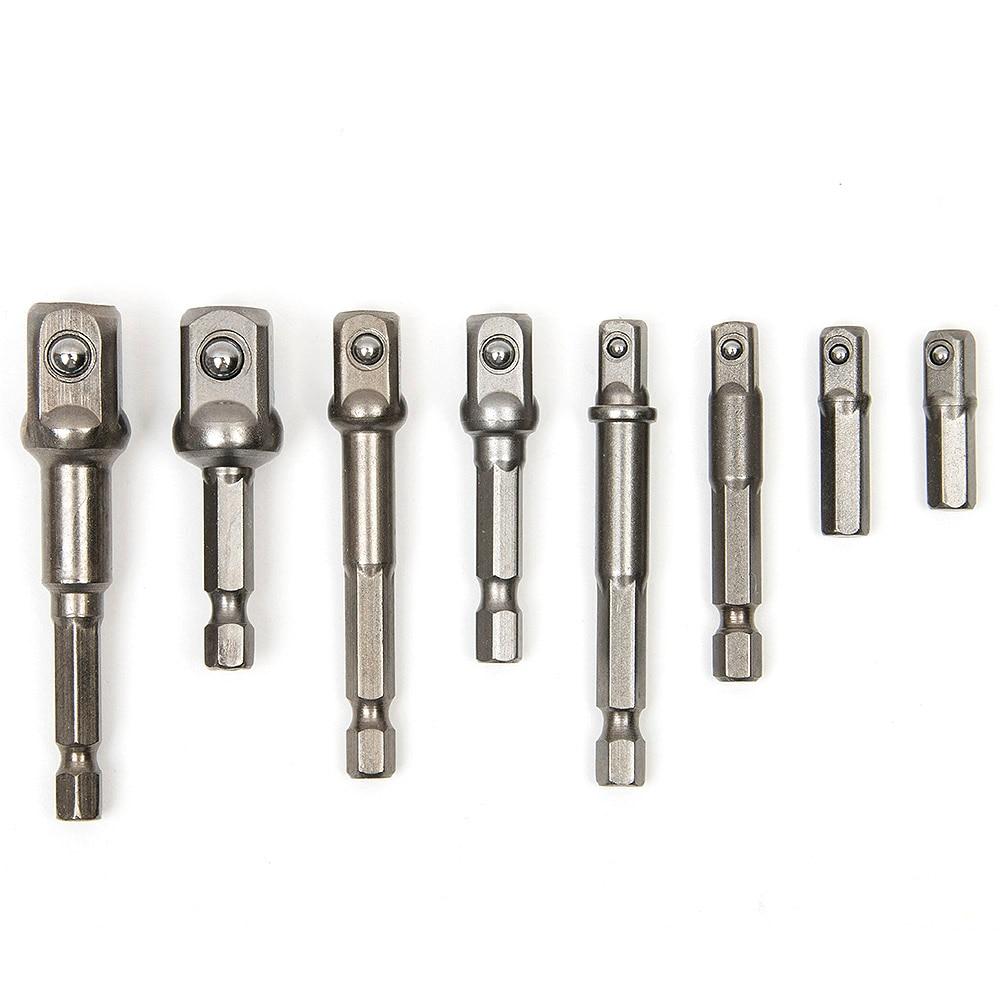 8PCS Set di punte per bussole Set di dadi per trapano esagonale - Utensili manuali - Fotografia 3