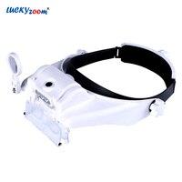 Headband Helmet Magnifier Magnifying Glasses LED Illuminated Lamp Magnifier 1.5X, 2X, 2.5X, 3X, 3.5X, 8X Read Detector Loupe