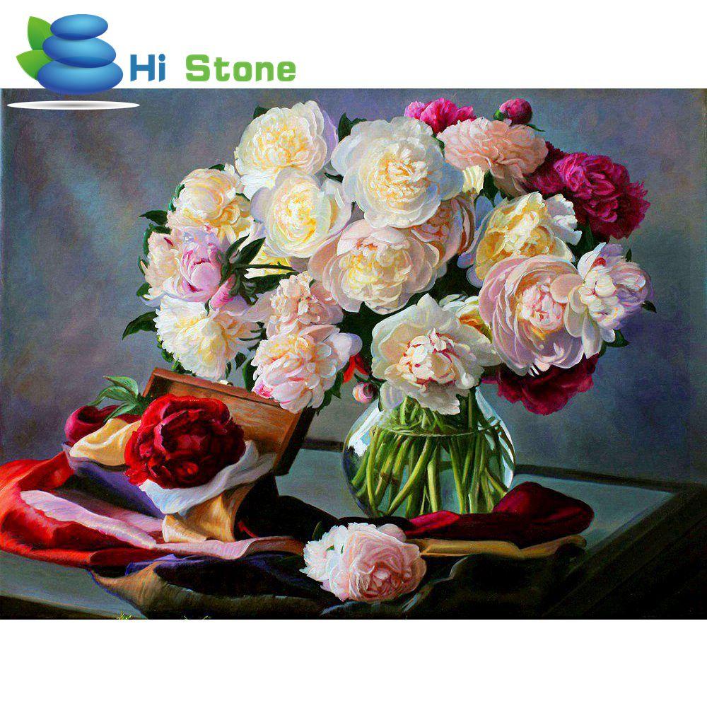 DIY 5D Алмаз живопись цветы узор вышивки крестом Florals Алмазная Вышивка Полный Дрель Алмазный подарок для домашнего декора 70557