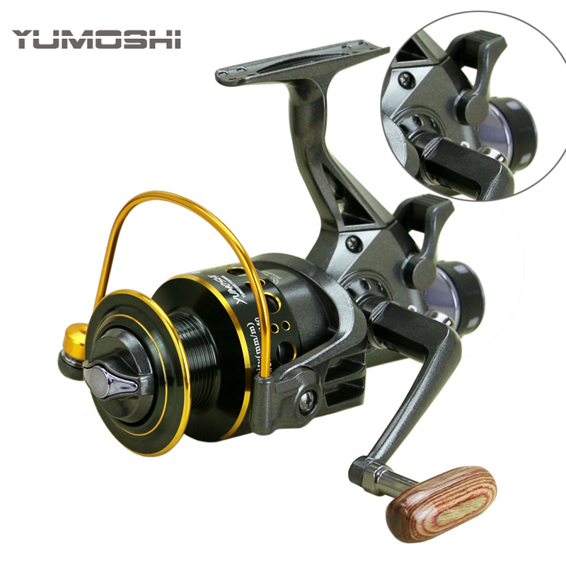 2019 New Fishing Reel Double Brake Front and Rear Drag reels Carp Fishing Feeder Spinning Reel Carp Fishing Tackle Rod Combo