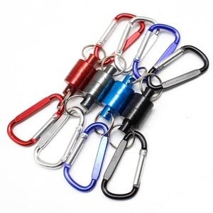 Многофункциональная Магнитная рыболовная сеть с магнитной застежкой для ловли нахлыстом, мощный держатель для сети со шлейфом, кабель тяги...
