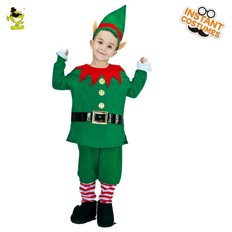 2018 New Design Boys Green Kids Elf Costumes Lovely Christmas Party Fancy  Dress For Cosplay Costumes For Children Boys In Boys Costumes From Novelty  ...