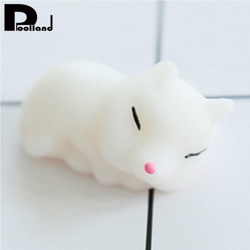 Kawaii Animals Mochi Squishy Fox Soft Squeeze Stretchy Toy Phone Strap Fidget Bread Cake Children Gift Toy Stress Relief Toy P20