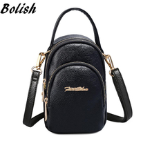 Bolish Summer PU Leather Women Shoulder Bag Fashion Crossbody Phone