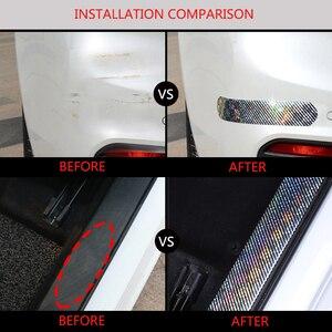 Image 5 - Auto Aufkleber Laser 5D Carbon Faser Gummi Styling Tür Sill Protector Waren Für KIA Audi Mazda Ford Hyundai etc Zubehör