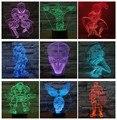 Чужой против Хищника 3D night light Освещение Настроение Лампы 7 цветов человек-паук световой меч Джокер железный человек халк Супер фигурку человека