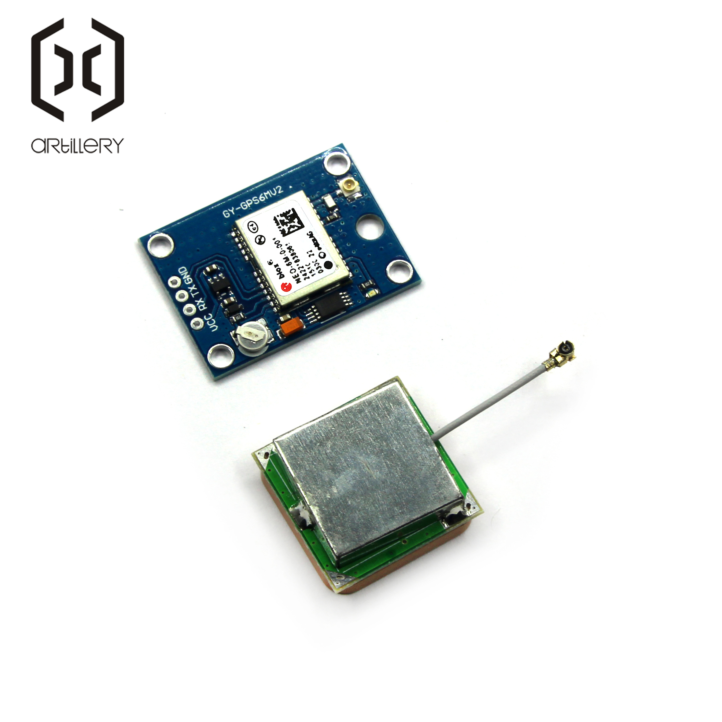 Image 4 - GY NEO6MV2 New GPS Module NEO 6M NEO6MV2 With Flight Control EEPROM MWC APM2.5 Large Antenna for arduino-in Integrated Circuits from Electronic Components & Supplies