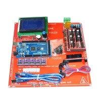 12864LCD Control Panel Mega 2560 R3 Ramps 1 4 USB Line DRV8825 Module PCB Heatbed MK2B