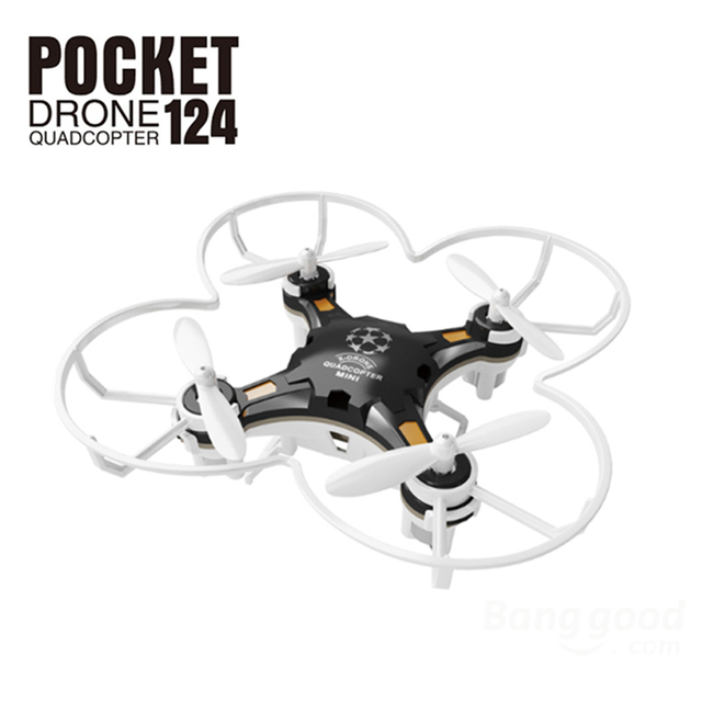 Quadrocopter Dron FQ777-124 Pocket Drone 4CH 6Axis Gyro Quadcopter With Switchable Controller