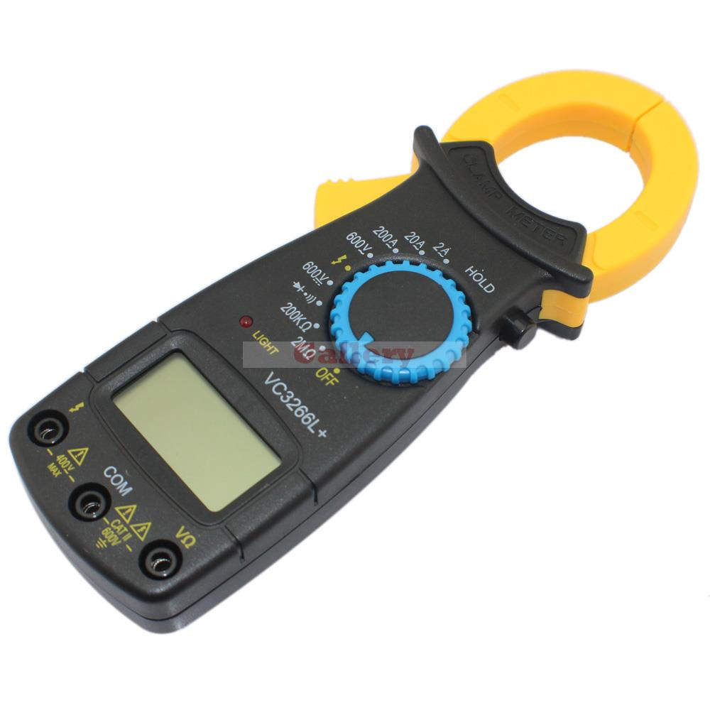 VC3266L+ AC/<font><b>DC</b></font> 3 <font><b>1</b></font>/2 LCD Display Digital Multimeter Tester Multimetro with Full Protection/Anti-burning Black Digital Clamp image