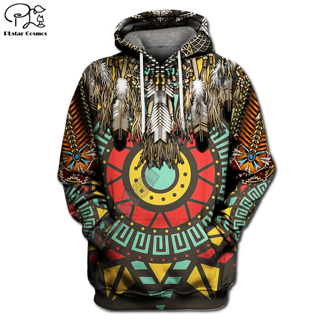 Paleo-Indian/Native Indian printing 3D Hoodies Men Women New Fashion Autumn Hooded Sweatshirt Long Sleeve Pullover Style