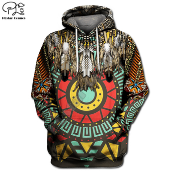 Indian Native Indian printing 3D Hoodies Men Women New Fashion Autumn Hooded Sweatshirt Long Sleeve Pullover Style