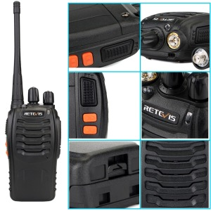Image 5 - Walkie Talkie 5pcs Retevis H777 3W 1 3Km Range Portable Two Way Radio Walkie Talkies Set for Factory/Warehouse/Construction site