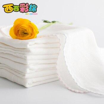 New 10PCS 28*28cm 100% Cotton Cartoon Waterproof Baby Bibs 2 Layers Soft Newborn Kid Feeding Baby Saliva Towel For 0-24 Months