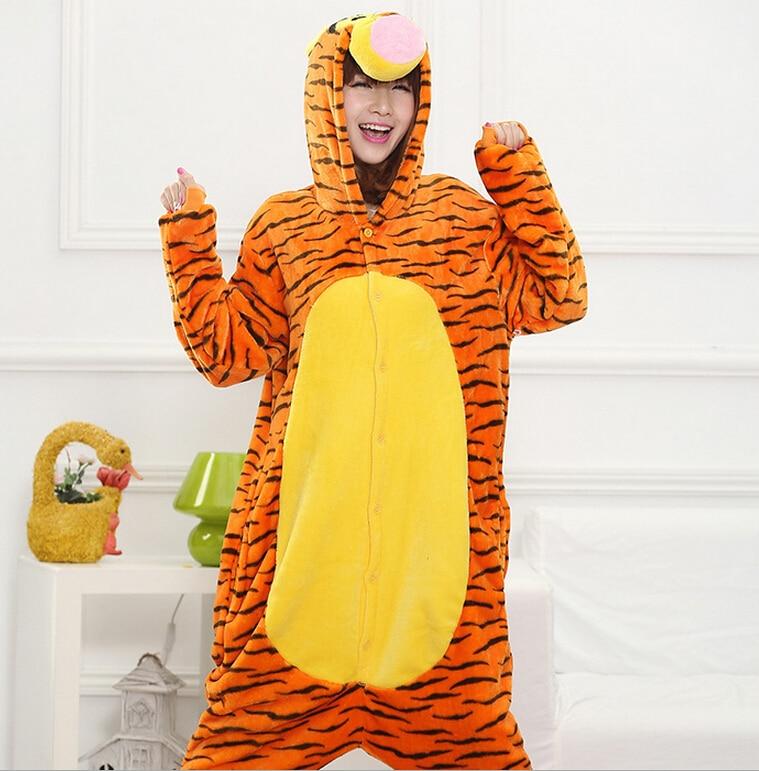 ba0e5c2f32 Lovely Tiger Onesie Costume Cosplay Winter Pyjamas Tigger Pajamas Sleepsuit  Sleepwear Cartoon animal conjoined onesies pajama-in Movie   TV costumes  from ...