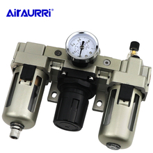 Pneumatic Lubricator + Filter + Regulator AC3000-03 AC3000-03D G3 / 8'' Automatic Drainage Air Source Treatment Unit цены онлайн