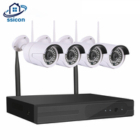 SSICON 4Channel 720P NVR CCTV Wireless Camera System 4CH Wifi NVR Kit Home Security Surveillance Camera