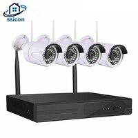 Ssicon 4 канала 720 P NVR CCTV Беспроводной Камера Системы 4ch Wi Fi NVR комплект домашней безопасности Камеры Скрытого видеонаблюдения Системы plug and play