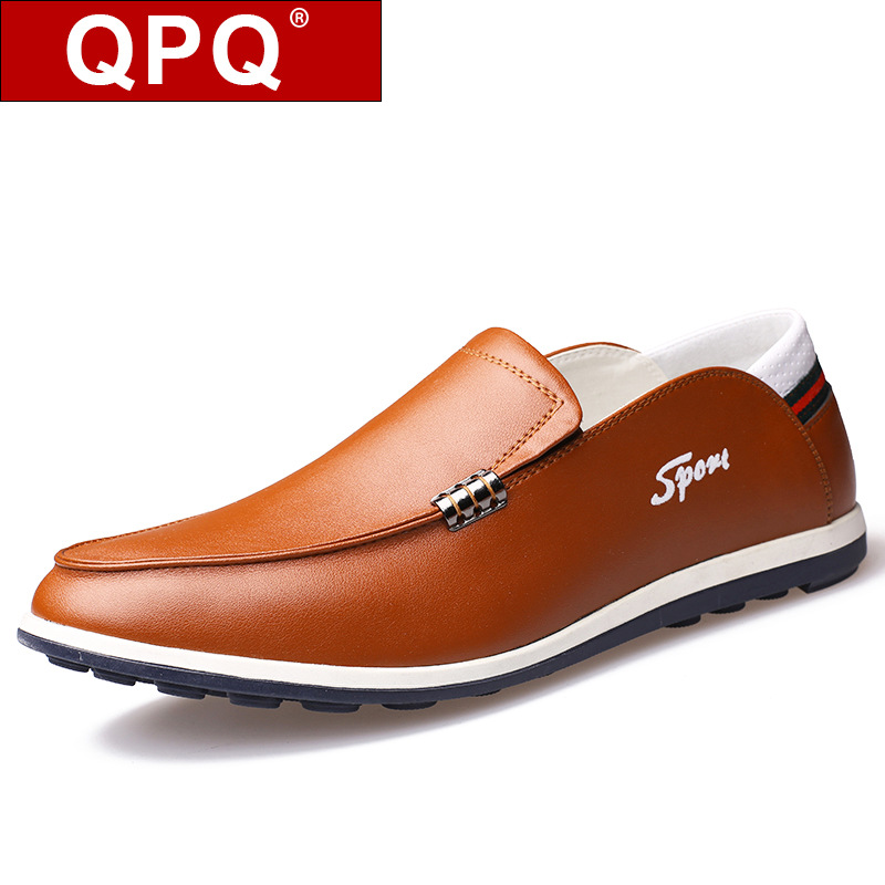 QPQ2017 England autumn Men Shoes Men's Flats Shoes Men Genuine Leather Shoes Classic Casual driving shoes For Men Fashion
