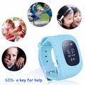 Relógio de Pulso Smartwatch Q50 GPS Kid Safe Kids Localizado Chamada SOS Localizador Localizador Rastreador para Criança Anti Perdido Bebê Monitor