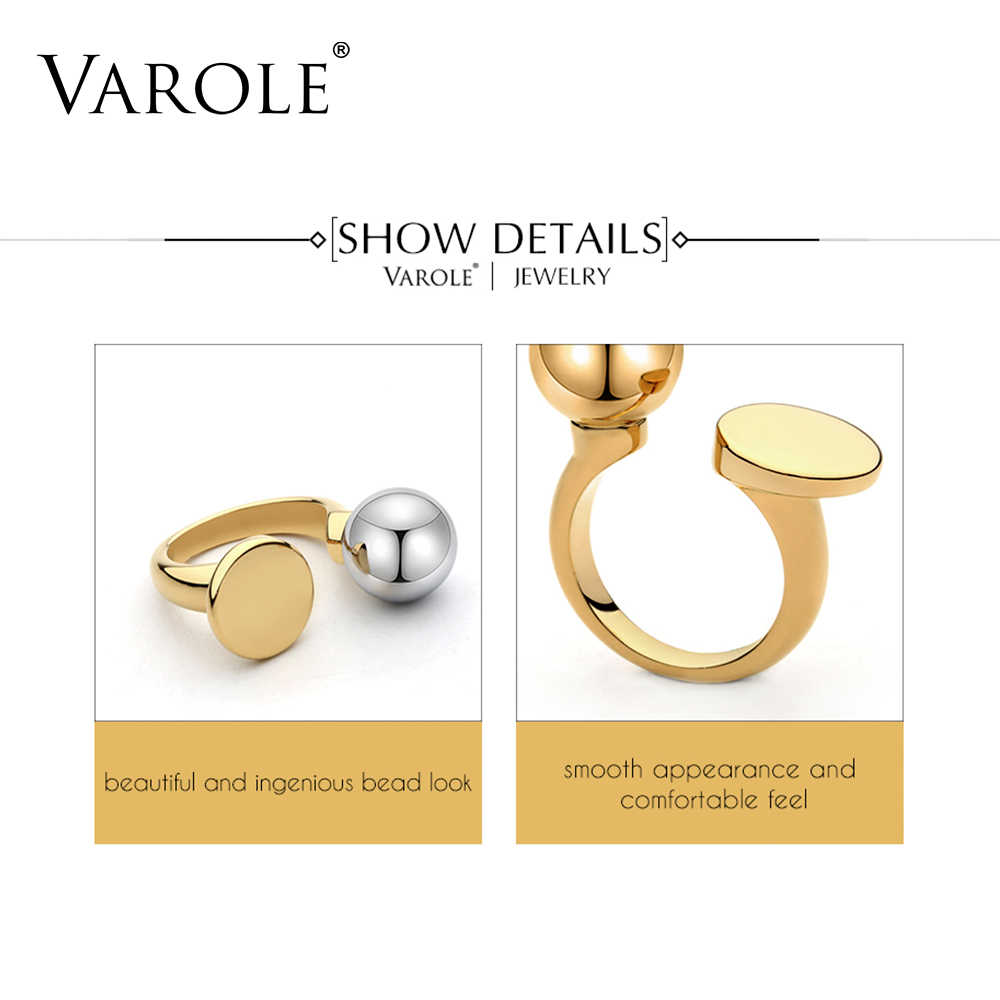 VAROLE แฟชั่น Ball & วงกลมแหวน Knunkle Midi แหวนผู้หญิงแหวนเครื่องประดับ Bagues Anillos Mujer Aneis Feminino