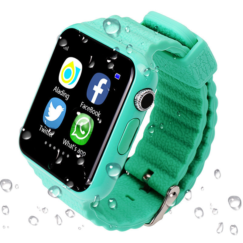 GPS Tracker Children Security Anti lost Waterproof Smart Watch V7K 1.54'' Screen With Camera Kid SOS Emergency For IOS&Android