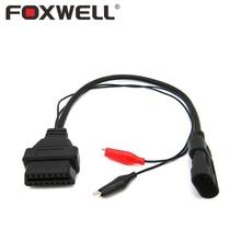 Car OBD Cable 3 Pin for Fiat Alfa Lancia 3Pin Male To 16Pin Female Extension Adapter Connector Auto OBD1 OBD2 OBDII 2 ECU 16-Pin