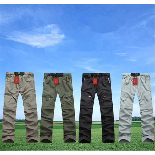 2017 New Fashion Style Men Quick-drying Pants Summer Casual Breathable Trousers Uv Protection Detachable Trousers S-3X