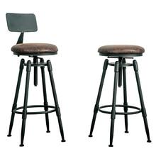 Стиль уникальный простой круглый железный табурет салонный стул табурет