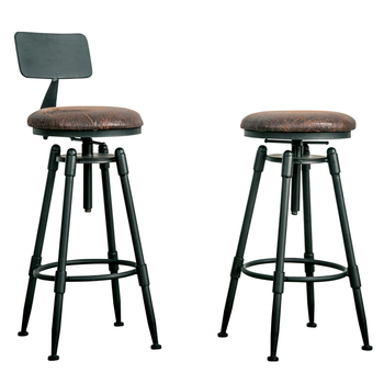 2018 new style  unique simple round  iron stool salon chair stool with hollow seat bar stool 103