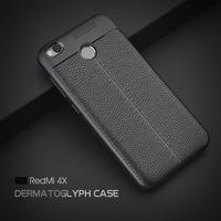 Phone Case For Xiaomi Redmi 4X Case Luxury PU Leather Soft TPU Back Cover For Redmi