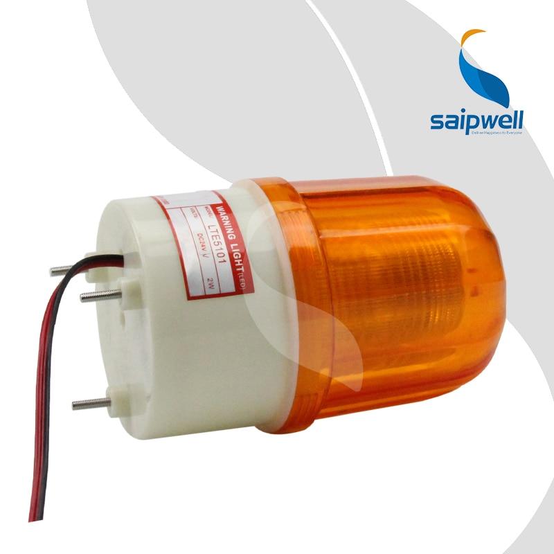 2 Вт винт фиксированного светодиодный мигающий световой сигнал/Промышленные ABS свет Предупреждение Light 100 мм Диаметр.(LTE-5101