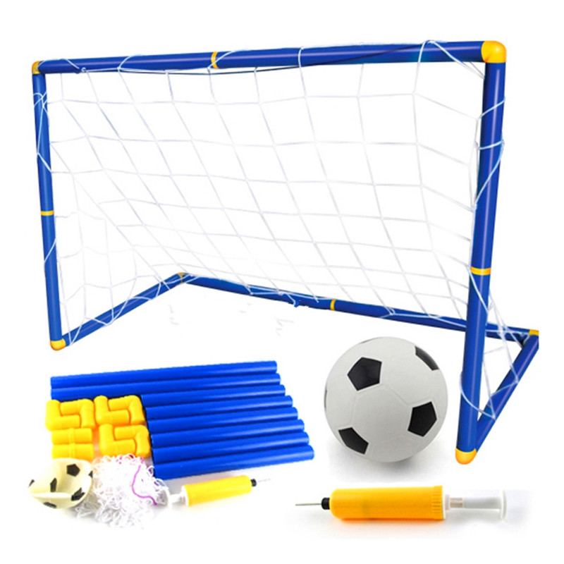 Portable Folding Children Football Goal Door Set Football Gate Outdoor Sports Toys Kids Soccer Door Set Cool Gifts free shipping