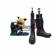 Miraculous Ladybug Adrien Cat Noir Shoes Adult Men PU Casual Basic Short Flat Boots Halloween Carnival