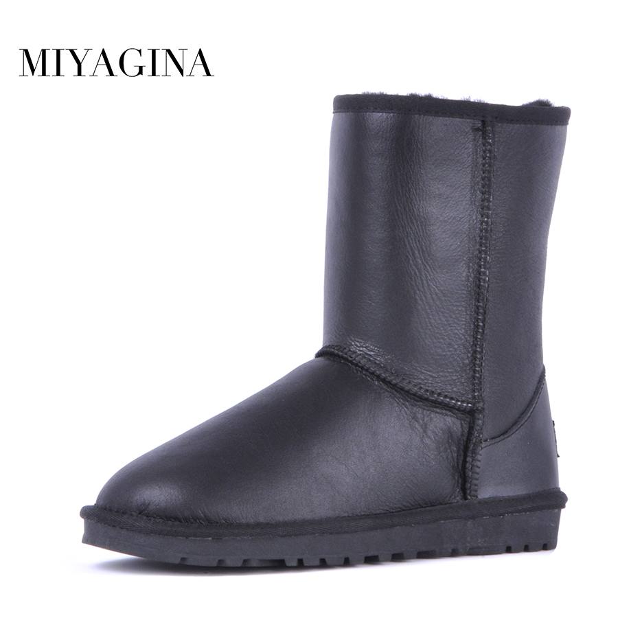 Free shipping! classic natural fur real wool genuine sheepskin leather snow  boots for women winter shoes High Quality c7aa468f4f53