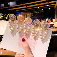 New Gold Crystal Pearl Hairpins Hair Clips for Women Luxury Stick Wedding Bride Pin Hairwear Girl Jewelry