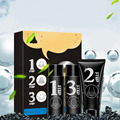 Face Nose Blackheads Pores Acne Removal Activated Carbon 3 Steps Mask Set Export Black Head+Black Sucked Out+Smaller Essence