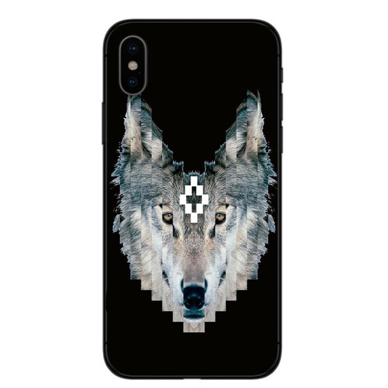 Cool Style Marcelo Burlon Colorful Wing Soft Silicone Coque for iPhone XS  Max 7 8 6 6S Plus Phone Cases Cover for iPhone XR