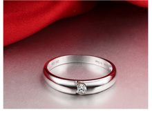 Diamond Wedding Band for Men 18K White Gold 0 08ct Natural Diamond Solitaire Engagement Jewelry Customized